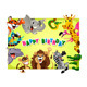 Happy Birthday Card with Jungle Animals - GraphicRiver Item for Sale