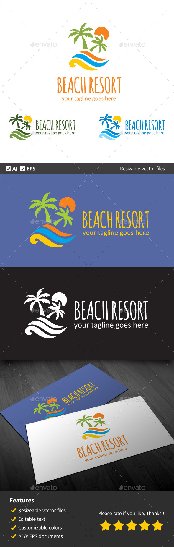 GraphicRiver Beach Resort 10523563