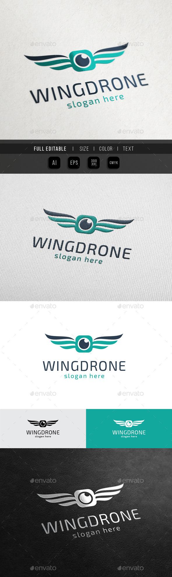 GraphicRiver Wing Drone Sky Camera 10523978