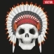 Human Skull with Indian Chief Hat - GraphicRiver Item for Sale