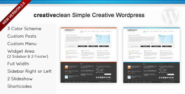 Creativeclean Simple Creative Wordpress - Preview