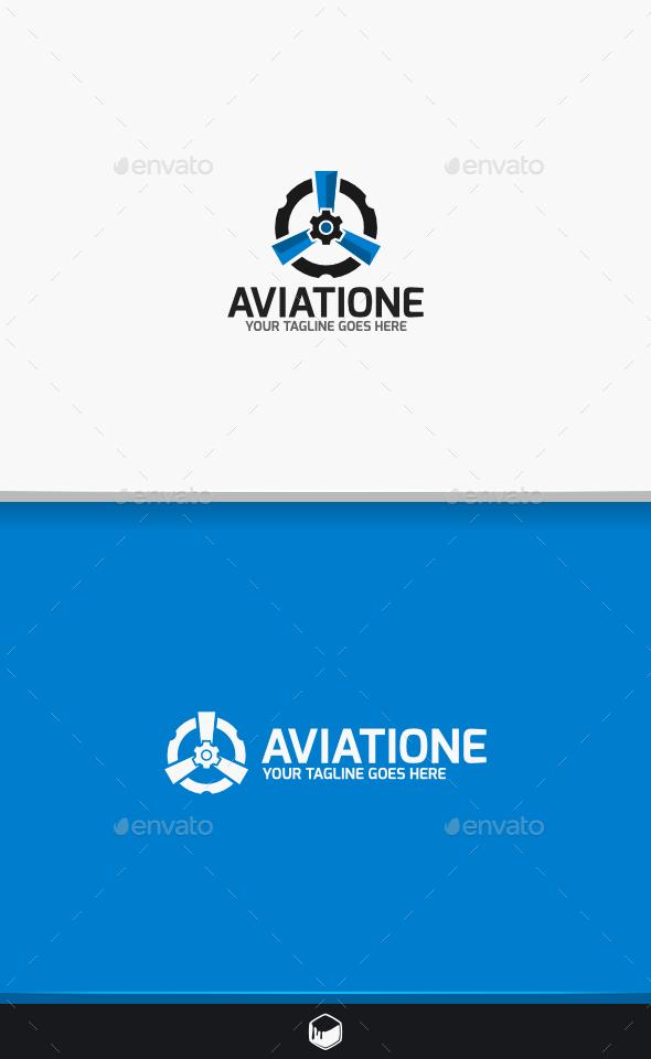 GraphicRiver Turbine Aviatione Logo 10524163