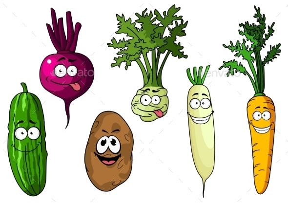 GraphicRiver Cartoon Vegetables 10524269