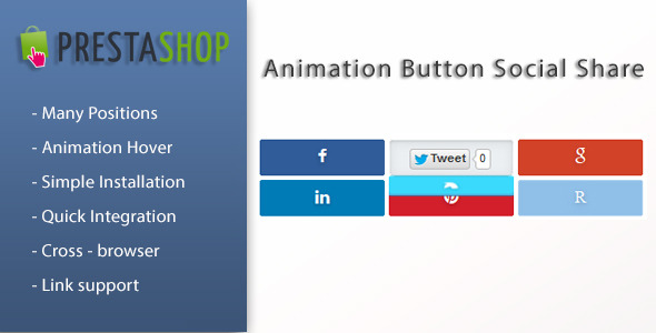 Animation Social Button Share for Prestashop