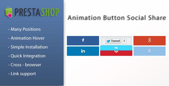 Animation Social Button Share for Prestashop