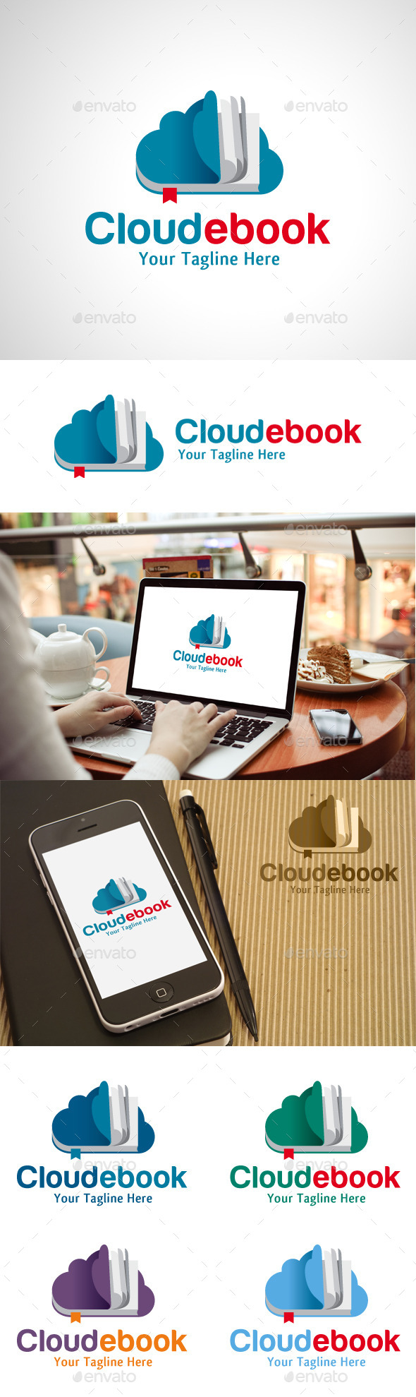 GraphicRiver Cloud Ebook Logo 10524525