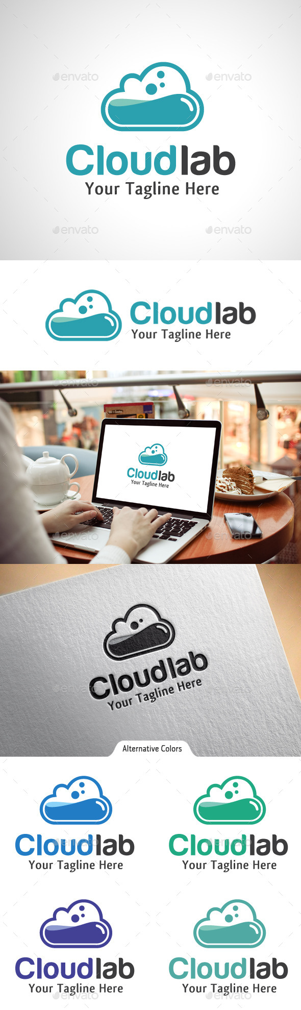 GraphicRiver Cloud Lab Logo 10524547