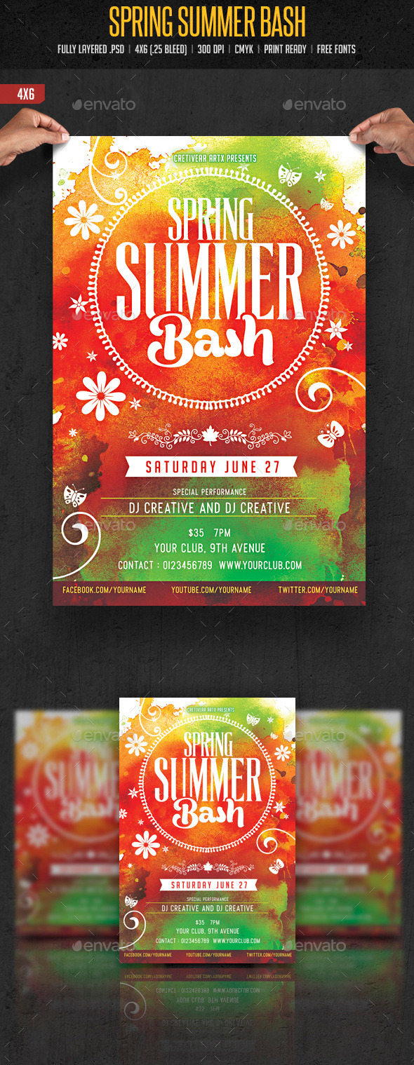 GraphicRiver Spring Summer Bash 10524737
