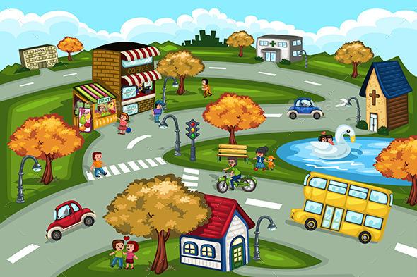 GraphicRiver City Scene 10524791