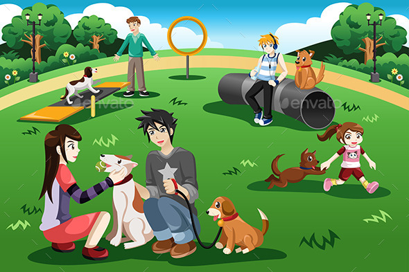 GraphicRiver People in a Dog Park 10524870