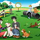 People in a Dog Park - GraphicRiver Item for Sale