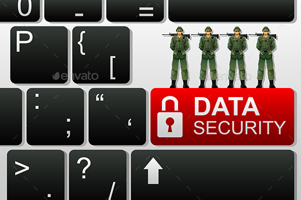 GraphicRiver Concept of Data Security 10524877