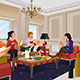 Women in a Book Club Meeting - GraphicRiver Item for Sale