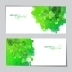 Watercolor Banners with Green Leaves - GraphicRiver Item for Sale