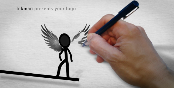 Inkman presents your logo AE project