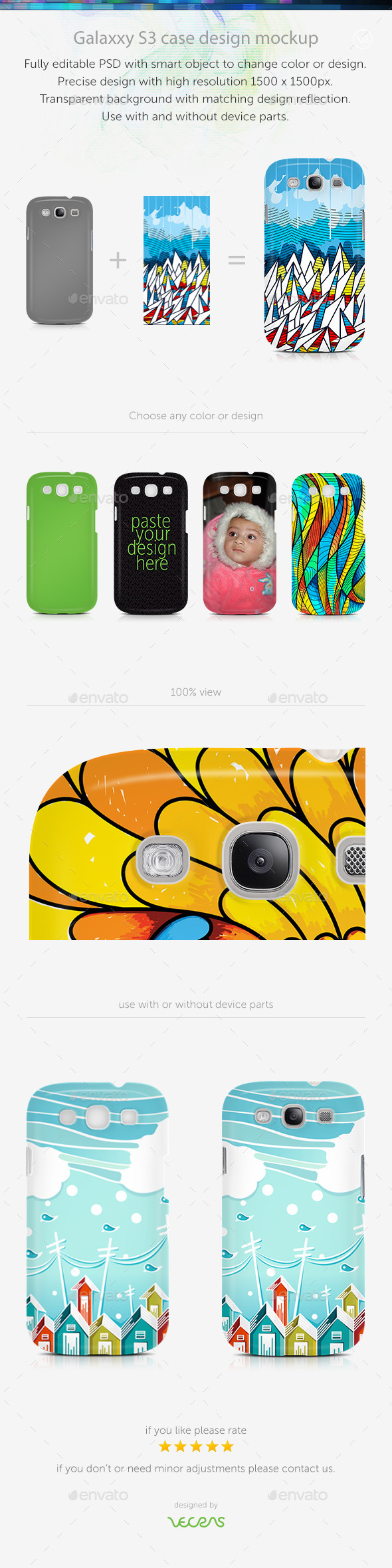 GraphicRiver Galaxxy S3 Case Design Mockup 10525225