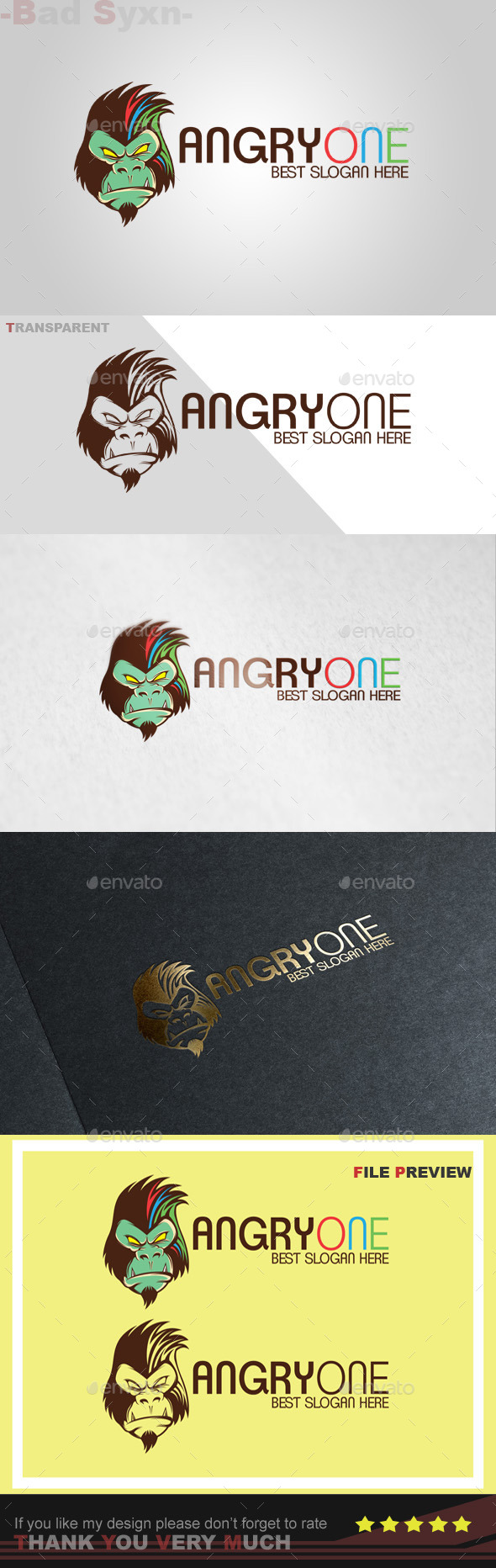 GraphicRiver Angryone Logo Template 10525421