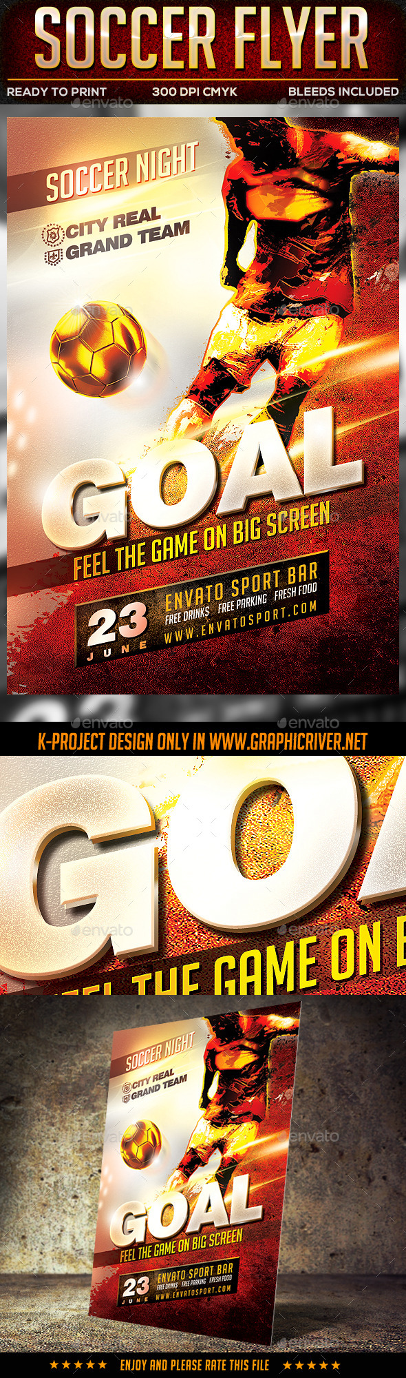 GraphicRiver Soccer Flyer 10525443