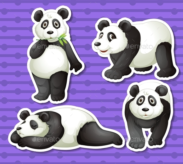 GraphicRiver Panda Set 10525582