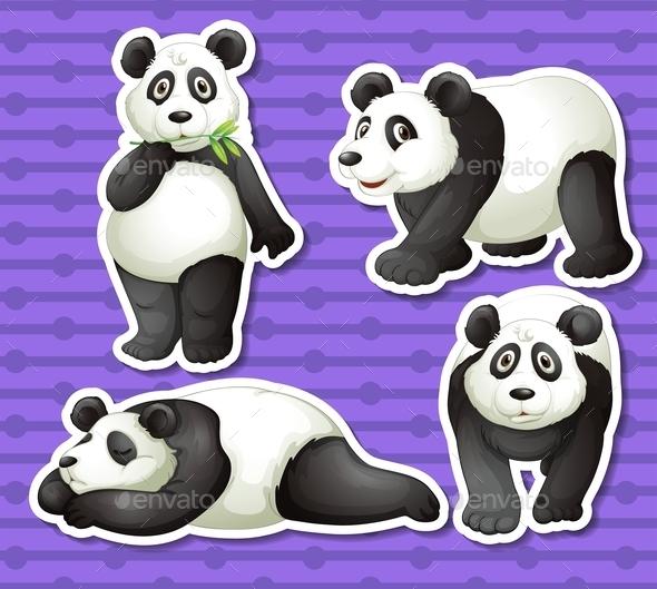 GraphicRiver Panda Set 10525582