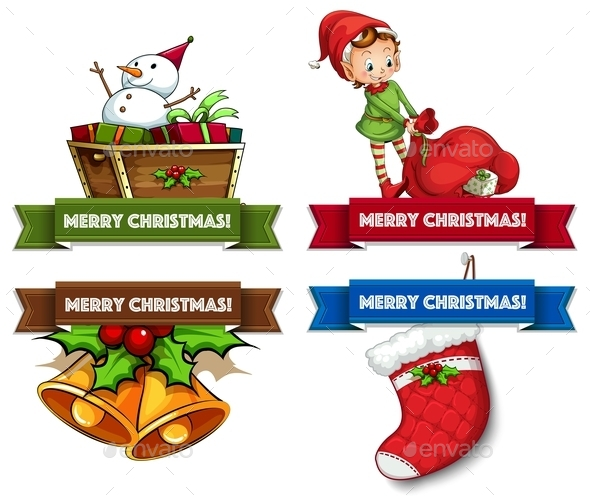 GraphicRiver Christmas Logos 10525652