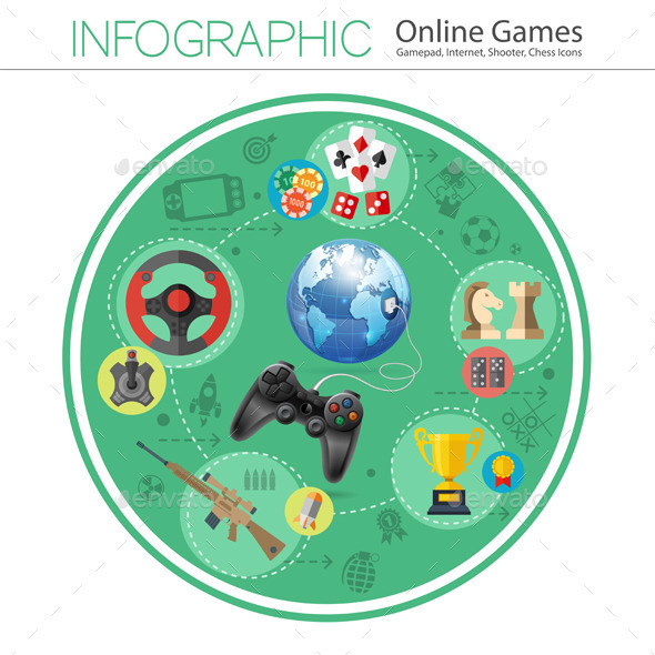GraphicRiver Online Games Infographics 10525664