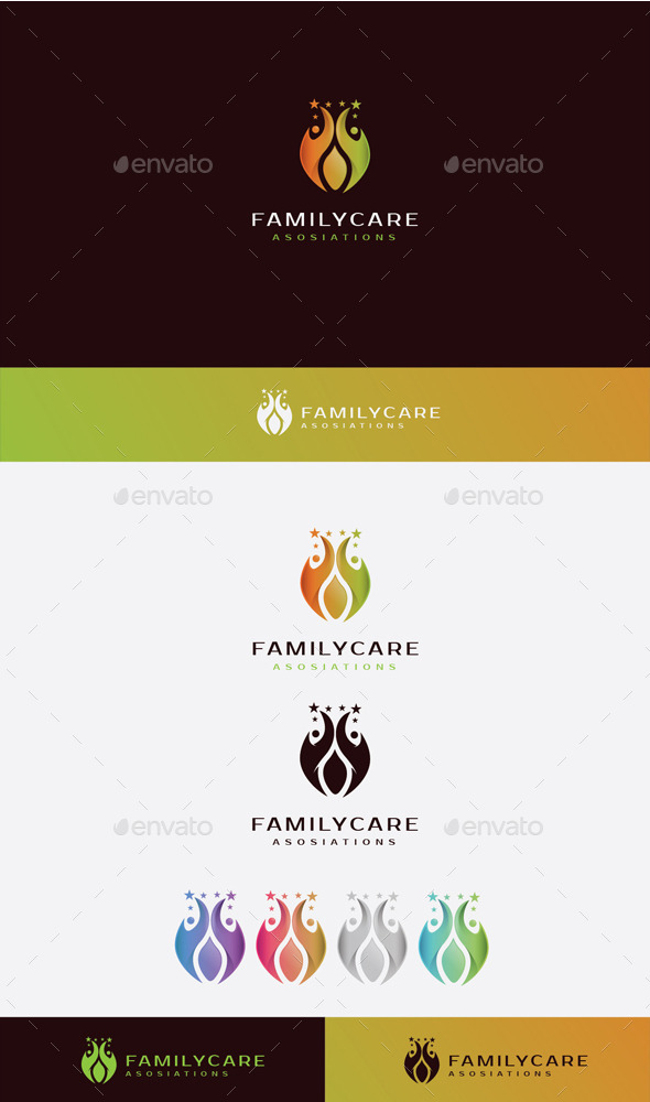 GraphicRiver Family Care Logo 10525688