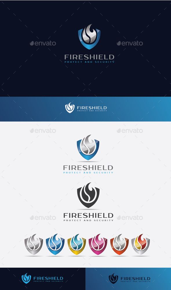 GraphicRiver Fire Shield Logo 10525702
