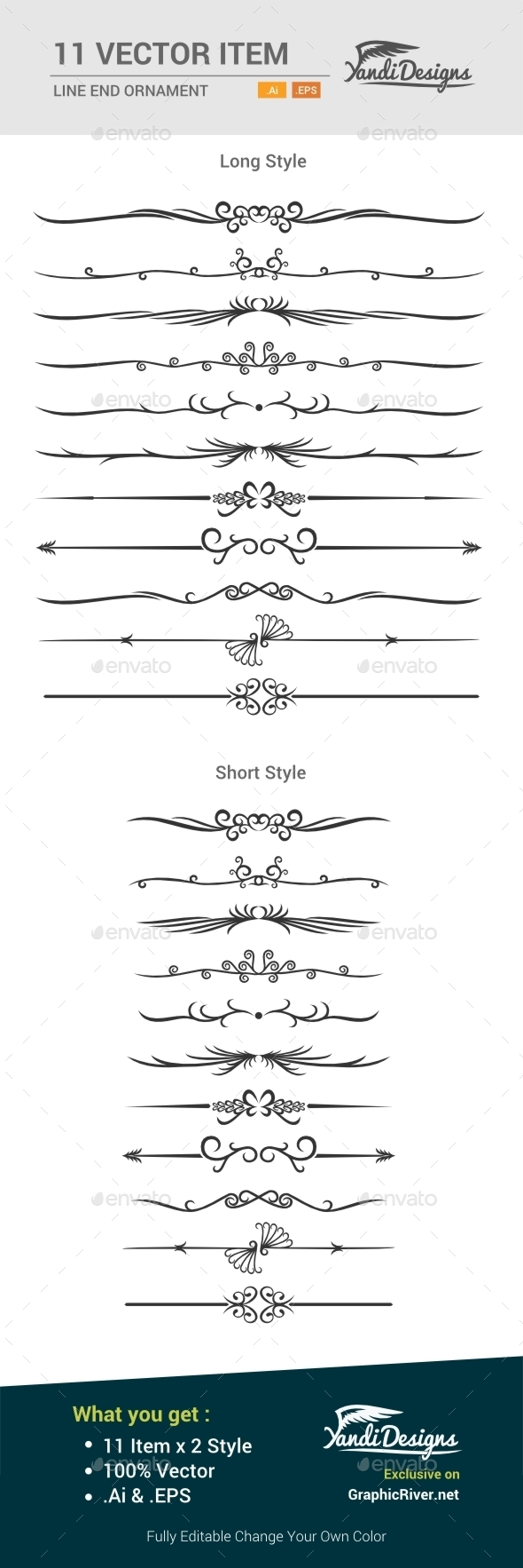 GraphicRiver Line Ornament 10525717