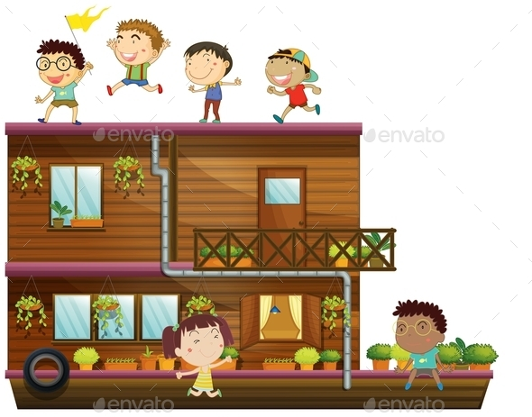 GraphicRiver Children and Boat 10525723