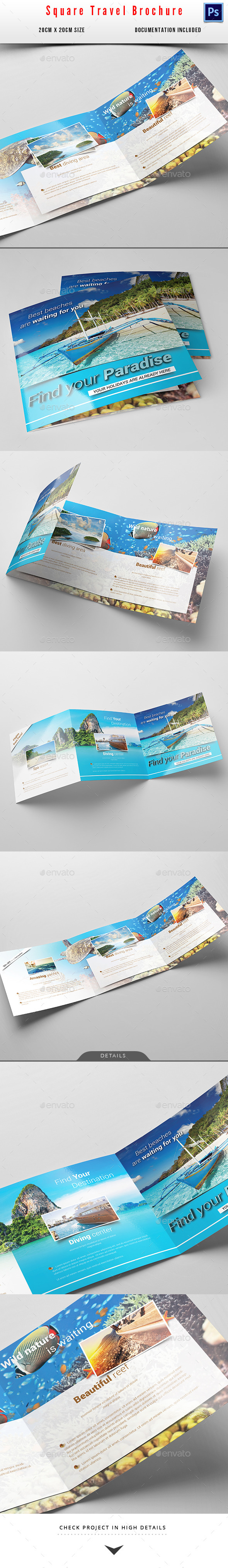 GraphicRiver Square Travel Holiday Brochure 10525729