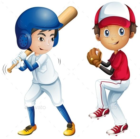 GraphicRiver Kids Playing Baseball 10525746