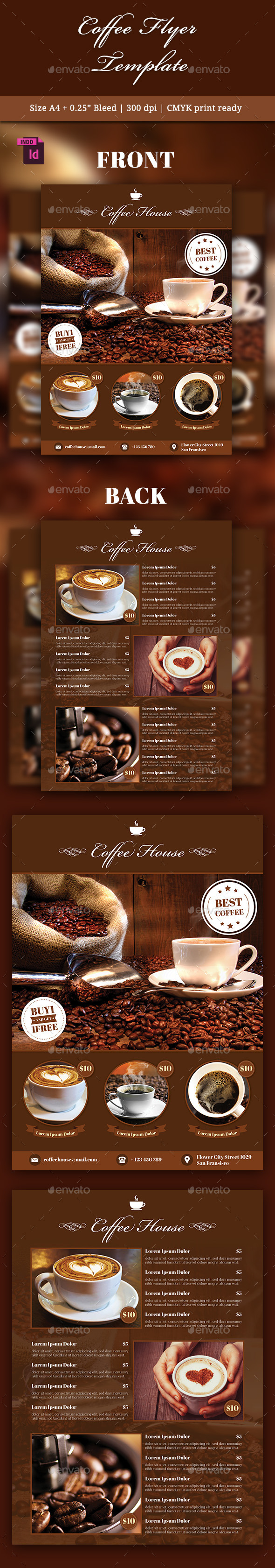 GraphicRiver Coffee Flyer Template 10525769