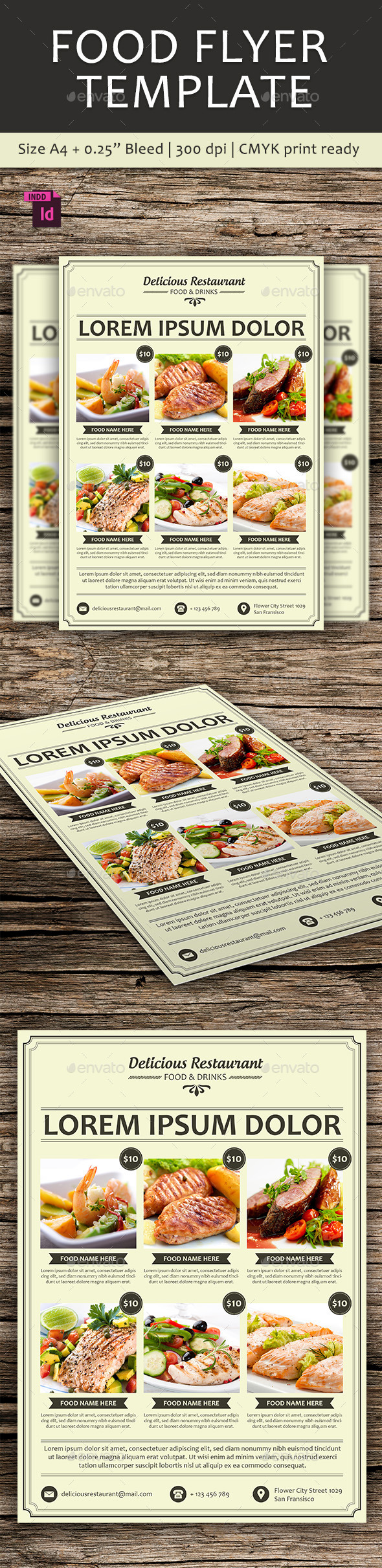 GraphicRiver Food Flyer Template 10525917