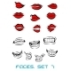 Cartooned Lips and Mouth Set - GraphicRiver Item for Sale