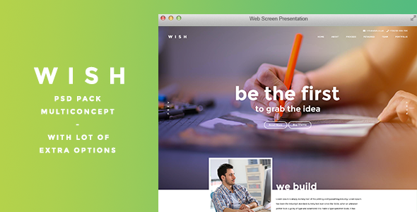 ThemeForest WISH Multi Purpose PSD Template 10525994