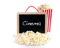 Popcorn and word Cinema. - PhotoDune Item for Sale