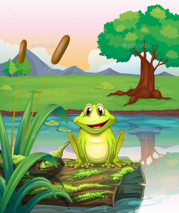 GraphicRiver Frog at Lake 10526092