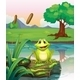 Frog at Lake  - GraphicRiver Item for Sale