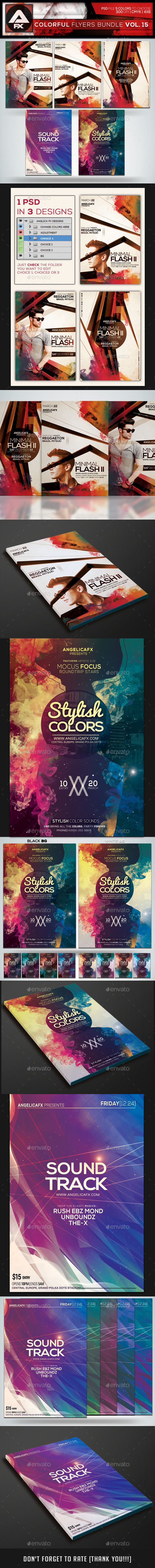 GraphicRiver Colorful Flyers Bundle Vol.15 10526415