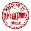 Welcome to Playa del Carmen stamp - PhotoDune Item for Sale