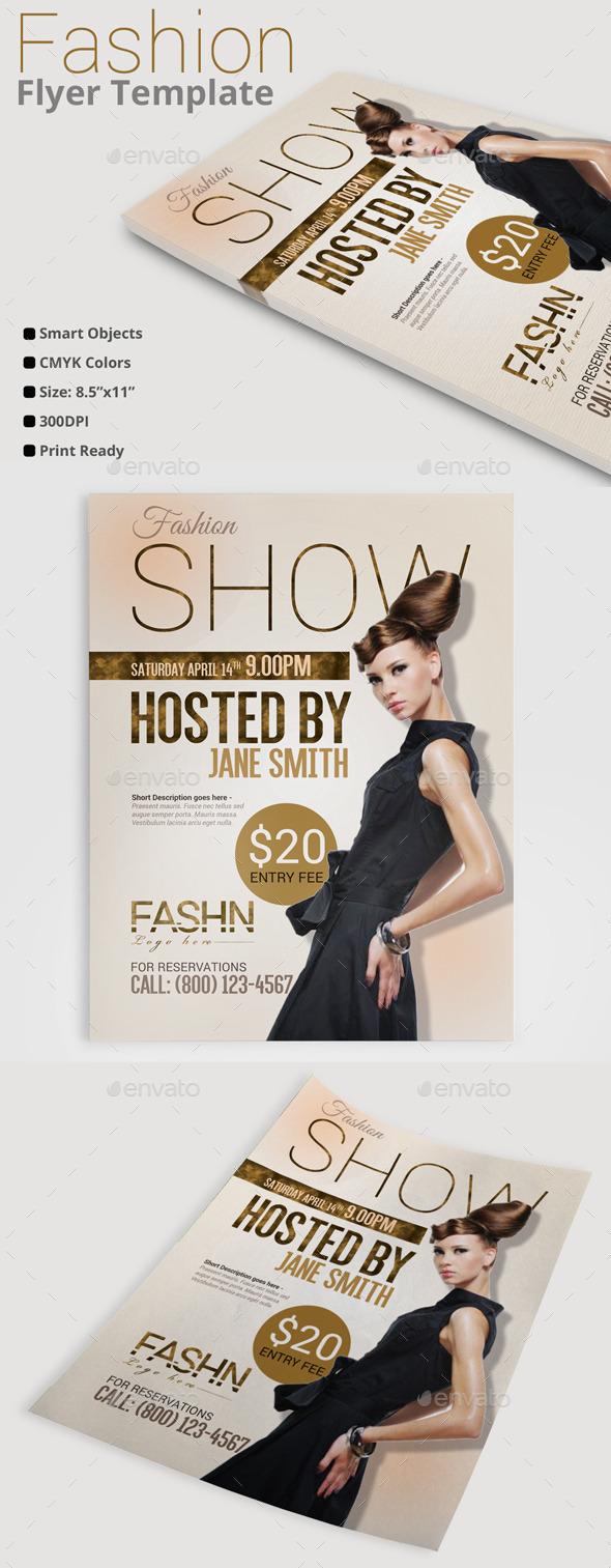 GraphicRiver Fashion Show Flyer 10526450