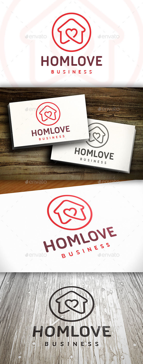 GraphicRiver House Love Logo 10526455