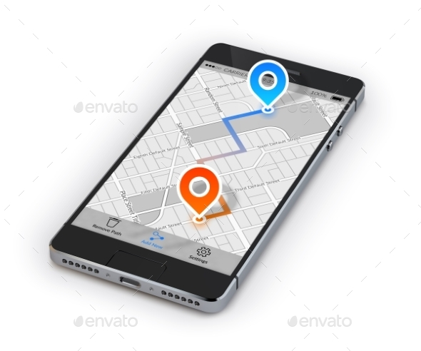 GraphicRiver Smartphone Mobile Navigation 10526468