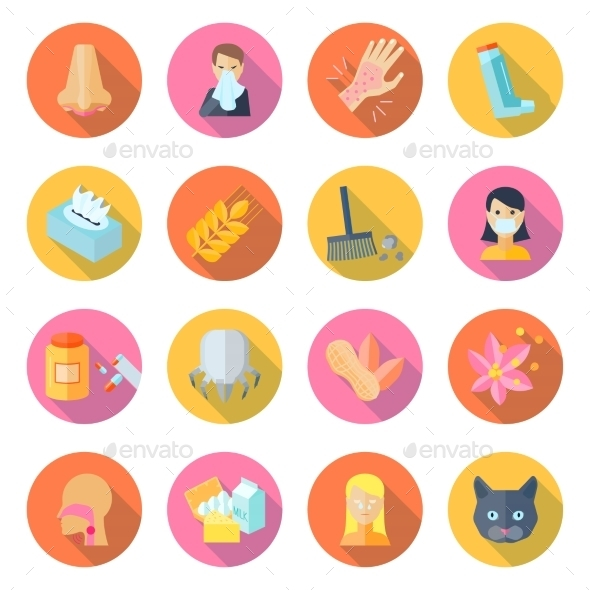 GraphicRiver Allergy Icons 10526473