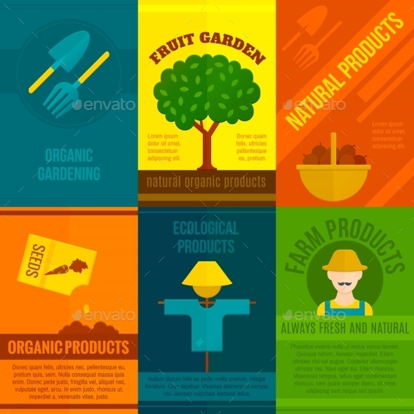 GraphicRiver Ecological Posters Set 10526481