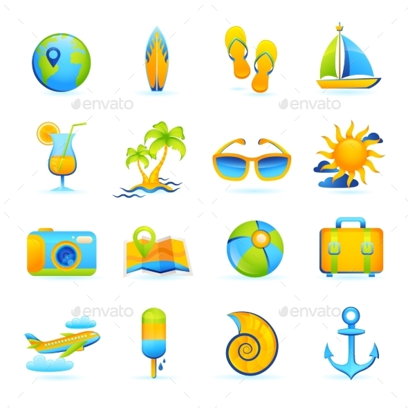 GraphicRiver Summer Vacation Set 10526525