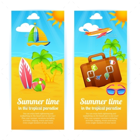 GraphicRiver Summer Vacation Banners 10526533