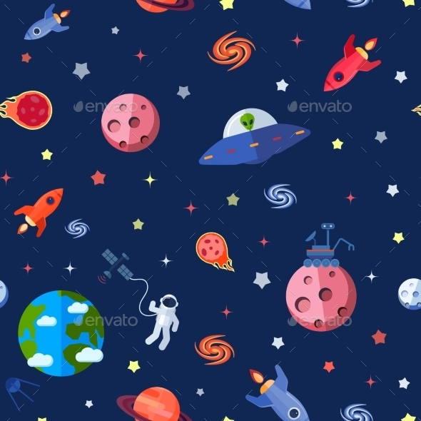 GraphicRiver Space Seamless Pattern 10526671