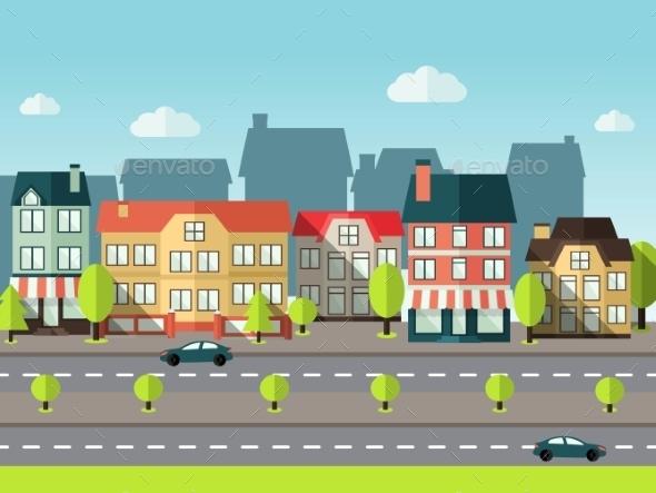GraphicRiver Landscape City Background 10526727